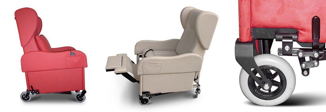 Poltrone Per Disabili Con Ruote.Poltrona Per Disabili E Anziani Giustina Mr Ruote Grandi
